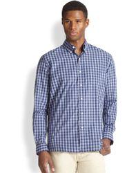 Polo Ralph Lauren Plaid Poplin Mercer Pocket Sportshirt - Lyst