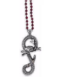Platadepalo - Animalia Silver & Zircon Dragon Necklace - Lyst
