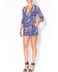 Yumi Kim Liz Romper blue - Lyst