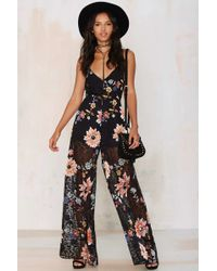 Nasty Gal | Band Of Gypsys Floral Jumpsuit | Lyst
