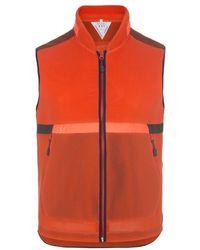 Paul Smith 531 Orange Windproof Paneled Cycling Gilet orange - Lyst
