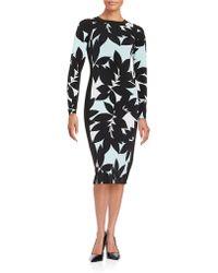 Maggy London - Leaf Sheath Dress - Lyst