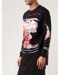 Hood By Air Mapping Graphic Tshirt - Lyst