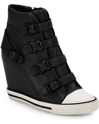 Ash United Buckle Leather High-Top Wedge Sneakers - Lyst