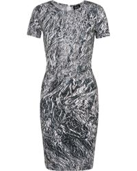 McQ by Alexander McQueen Printed Stretch-Cotton Jersey Dress - Lyst