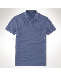 Polo Ralph Lauren Pima Cotton Interlock Polo - Lyst