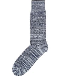 CALVIN KLEIN 205W39NYC - Ck Fairisle Textured Sock - Lyst