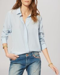 Maje Shirt - Silk Button Down - Lyst
