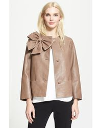 Kate Spade Dorothy Leather Jacket - Lyst