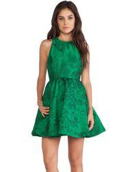 Alice + Olivia Tevin Racerback Party Dress - Lyst