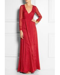 Matthew Williamson Silkchiffon Wrap Gown - Lyst
