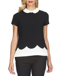 Cece by Cynthia Steffe - Boxy Layered-effect Peter Pan Top - Lyst