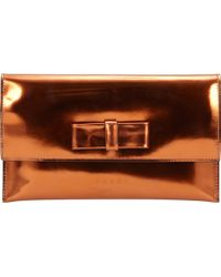 Marni Metallic Bow Clutch - Lyst
