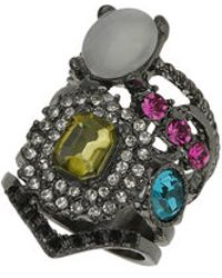 TOPSHOP - Mix Jewelled Layer Look Ring - Lyst