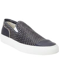 Rocco P - Dizzy Perforated Slipon Sneakers - Lyst