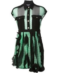 Emanuel Ungaro Ruffle Detailed Dress - Lyst