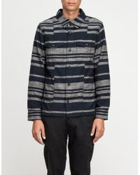 Wings + Horns Dusk Stripe Shirt Jacket - Lyst