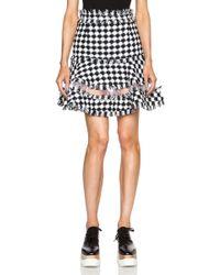MSGM Check Tweed Skirt - Lyst