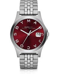 Marc By Marc Jacobs The Slim 30Mm Bracelet Women'S Watch W/Burgundy Dial - Lyst
