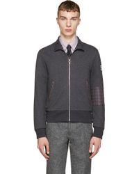 Moncler Gamme Bleu - Grey Zippered Sweater - Lyst