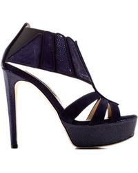 Chrissie Morris Boudicca Stingray Heel In Blue black - Lyst