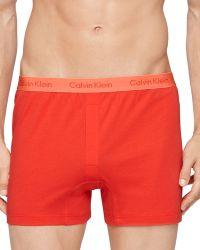 Calvin Klein Slim Fit Knit Boxers - Lyst