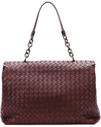 Bottega Veneta Olimpia Medium Woven Shoulder Bag Dark Purple - Lyst