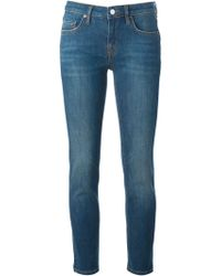 Victoria Beckham Cropped Skinny Jeans - Lyst