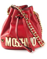 Moschino Logo Bucket Shoulder Bag - Lyst