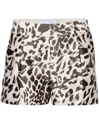 Diane von Furstenberg Naples Midado Wool And Silk-Blend Shorts - Lyst