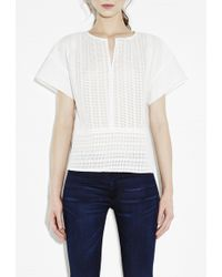 MiH Jeans Broderie Top - Lyst