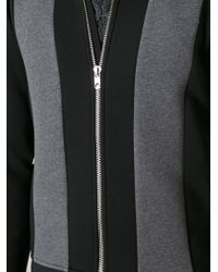 Diesel Black Gold Zipped Panelled Sweatshirt - Lyst