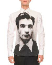 Alexander McQueen Poet-print Longsleeve Shirt - Lyst
