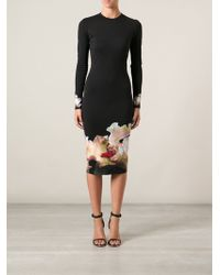 Givenchy Floral Jersey Dress - Lyst