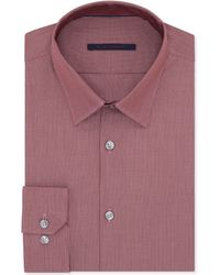 Elie Tahari Red Micro-check Dress Shirt - Lyst
