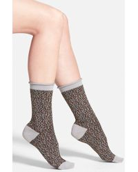 Free People 'Channeling Dots' Crew Socks - Lyst
