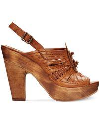 Frye Anya Concho Platform Sandals - Lyst