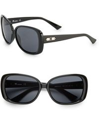 Missoni Modified Square Black 59mm Logo Inlay Sunglasses - Lyst
