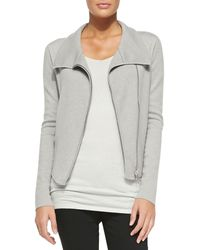 Donna Karan New York Fitted Asymmetric Zip-Front Jacket - Lyst
