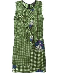 Marc Jacobs Gingham-Checked Silk Dress - Lyst