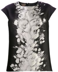 Giambattista Valli Abstract Floral Blouse - Lyst