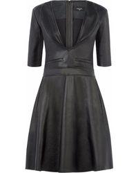 Vielma.London - Black Leather Dress - Lyst