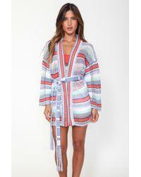 Goddis - Sydney Kimono In Puruvian Pom Pom - Lyst