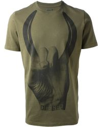 Diesel Abstract Print Tshirt - Lyst
