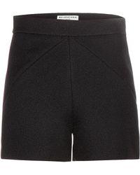 Balenciaga Black Textured Shorts - Lyst