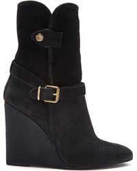 Burberry Black Shearling Lined Fowler Boot - Lyst