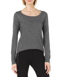 Michael Kors Cotton/Cashmere High-Low Sweater - Lyst
