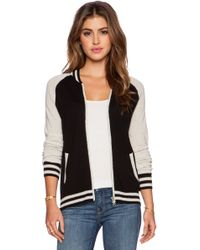 Autumn Cashmere Black Baseball Jacket - Lyst