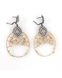 Bochic | Diamond Openwork Earrings | Lyst