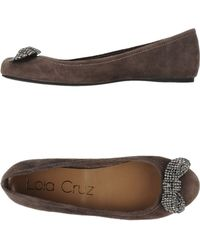 Lola Cruz Brown Ballet Flats - Lyst